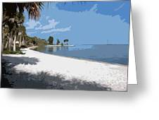 Castaway Point On The Indian River Lagoon With Coquina Rock Greeting Card