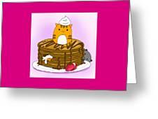 Cat In Food Greeting Card