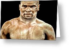 Champion Boxer And Actor Mike Tyson Greeting Card
