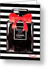Chanel Noir Perfume Greeting Card