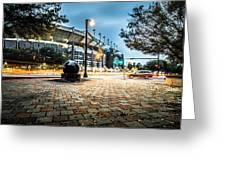 Charlotte North Carolina Street Scenes Early Morning Greeting Card
