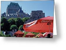 Chateau Frontenac In Quebec City Greeting Card