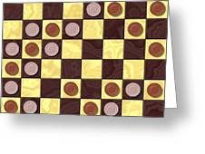 Checkerboard Generated Seamless Texture Greeting Card
