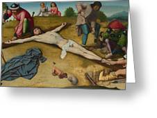 Christ Nailed To The Cross Greeting Card