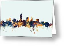 Cleveland Ohio Skyline Greeting Card