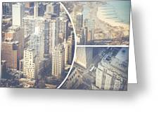 Collage Of Chicago  Greeting Card