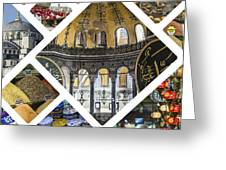 Collage Of Istanbul  Greeting Card