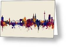 Cologne Germany Skyline Greeting Card