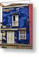 Colonial Buildings In Old Cartagena Colombia Greeting Card