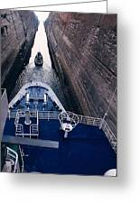 Corinthian Canal In Greece Greeting Card