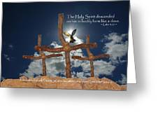 3 Crosses Descent Of Holy Spirit Greeting Card by Robyn Stacey
