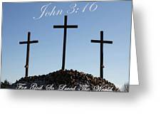 3 Crosses Greeting Card