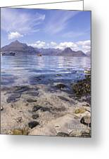 Cuillin Mountains From Elgol Greeting Card