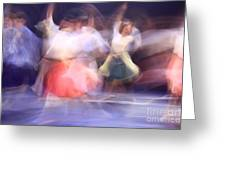 Dancers In Motion  Greeting Card