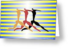 3 Dancers Greeting Card