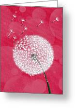 Dandelion Flying Greeting Card