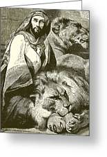Daniel In The Lions Den Greeting Card