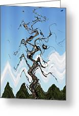 Dead Pine Tree Abstract Greeting Card