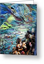 Detail Of Water Greeting Card by Kimberly Simon