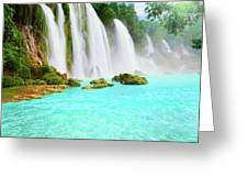 Detian Waterfall Greeting Card