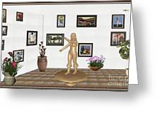 digital exhibition _ Sculpture 11 of girl  Greeting Card
