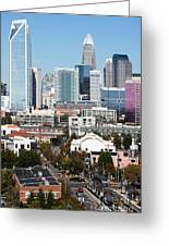 Downtown Charlotte North Carolina From The South End Greeting Card