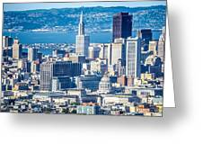 Downtown San Francisco City Street Scenes And Surroundings Greeting Card