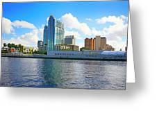Downtown Tampa Fl, Usa Greeting Card