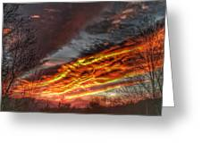 Dramatic Skies Great Smoky Mountains Nc At Sunset In Winter Greeting Card