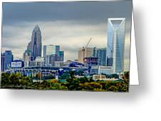Dramatic Sky And Clouds Over Charlotte North Carolina Greeting Card