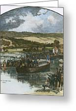 Erie Canal Opening, 1825 Greeting Card