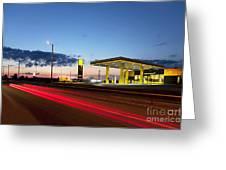 Estonian Gas Station Greeting Card by Jaak Nilson
