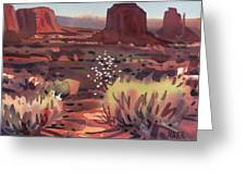 Evening In Monument Valley Greeting Card