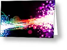 Explosion Of Lights Greeting Card