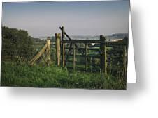 Farm Fields In Belgium Greeting Card
