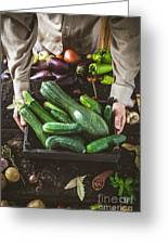 Farmer With Vegetables Greeting Card