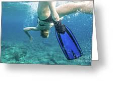 Female Snorkeling Greeting Card