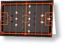 Foosball Players Greeting Card