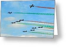 Frecce Tricolori Greeting Card