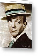 Fred Astaire Hollywood Legend Greeting Card