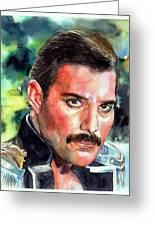 Freddie Mercury Portrait Greeting Card
