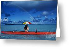 French Polynesia, Tetiaro Greeting Card