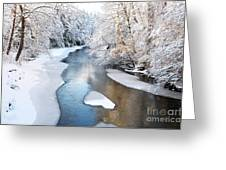 Fresh Snowfall Gauley River Greeting Card
