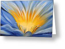 From The Heart Of A Flower Blue Greeting Card