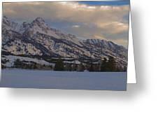Grand Teton Winter Dawn Greeting Card