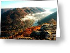 Grandview New River Gorge Greeting Card