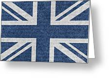 Great Britain Denim Flag Greeting Card