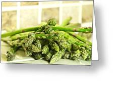 Green Asparagus Greeting Card by Blink Images