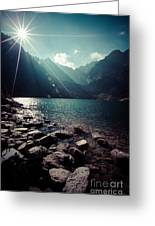 Green Water Mountain Lake Morskie Oko, Tatra Mountains, Poland Greeting Card