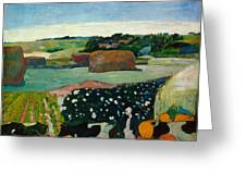 Haystacks In Brittany Greeting Card